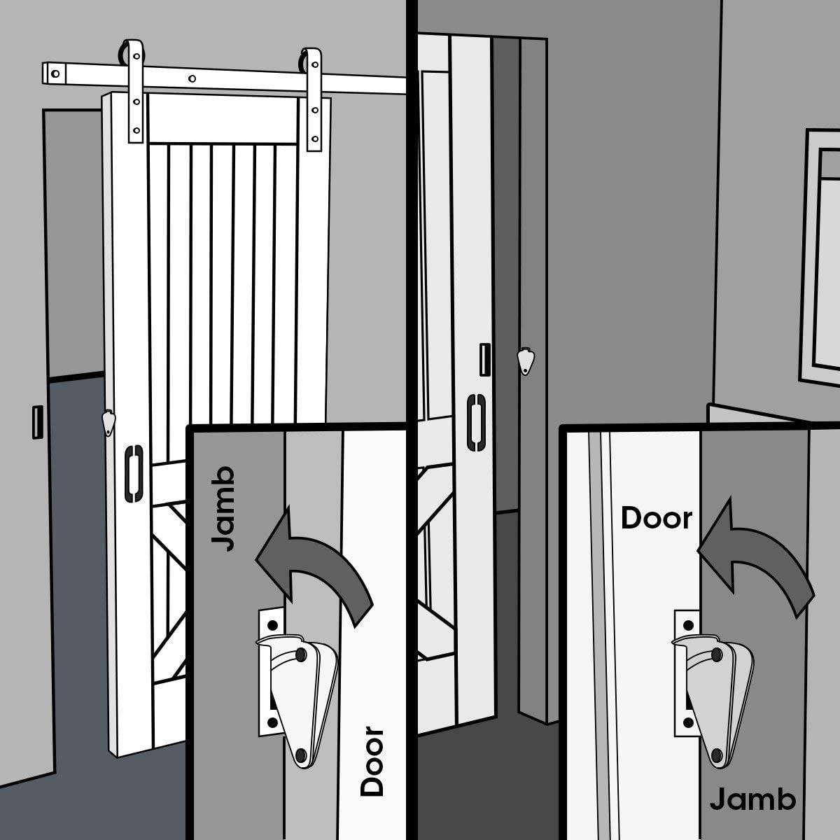 Comment mettre un verrou sur une porte coulissante ?